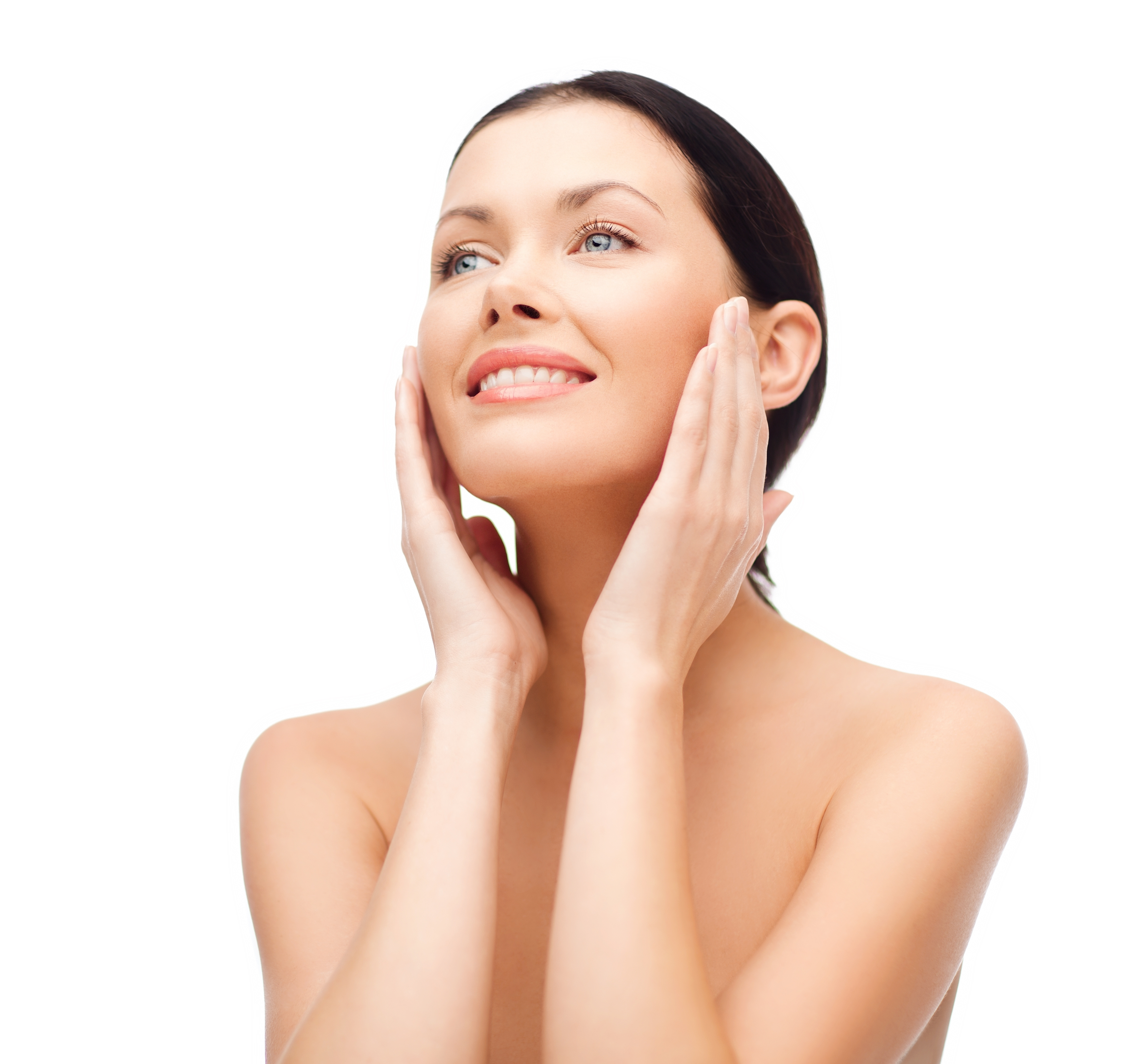 beauty, spa and health concept - smiling young woman